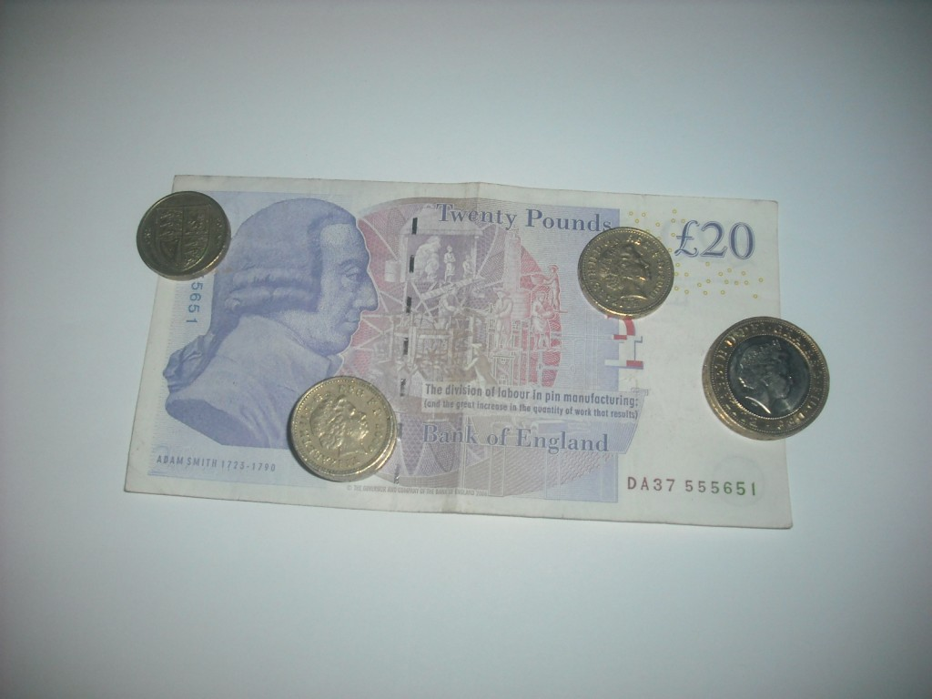 Adam Smith £20 Bank Note