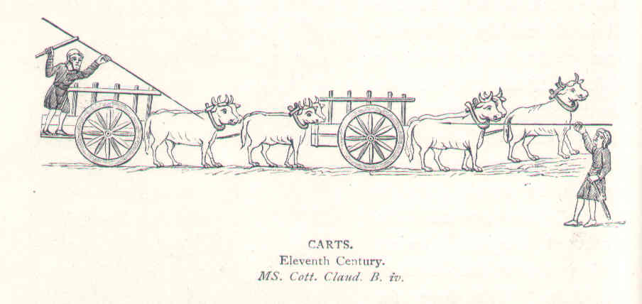 11th century carts, contemporary draw