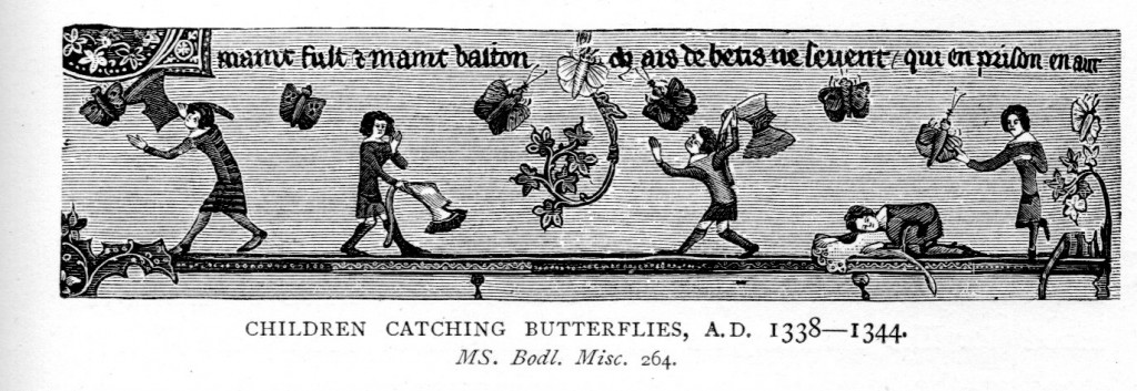 14th Century catching butterflies