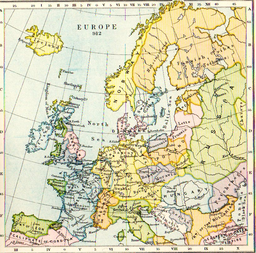 Map Europe Aethelflaed.