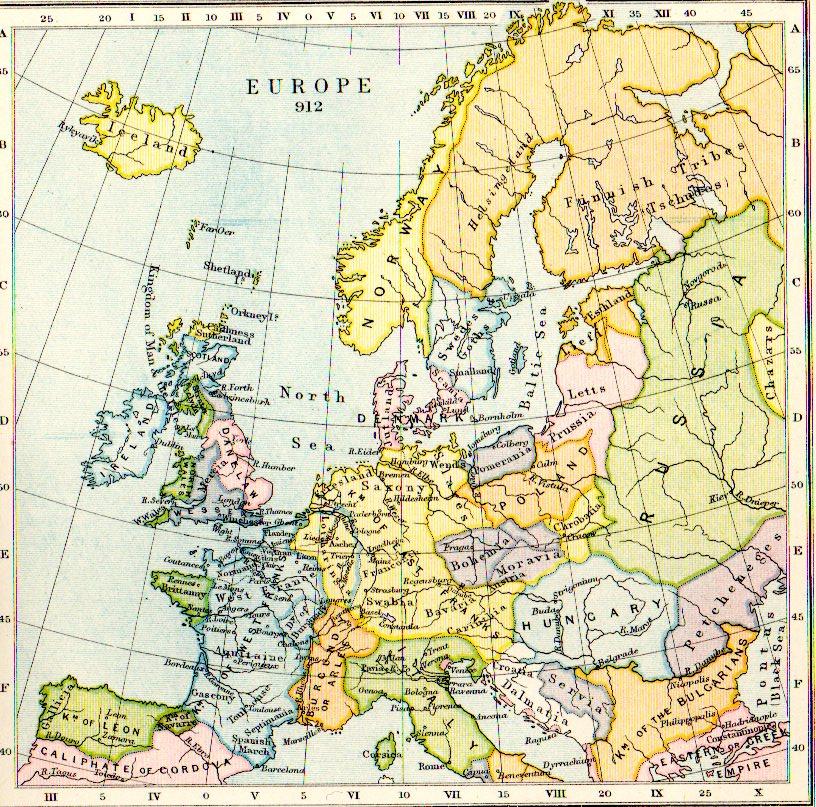 Map Europe Aethelflaed.