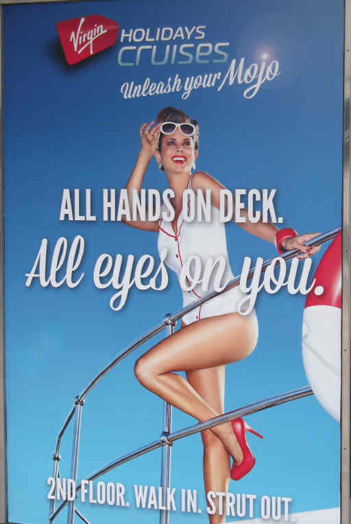 Virgin Cruises poster ad
