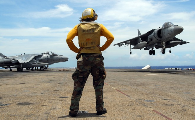 USS Boxer & Harrier Jump Jets