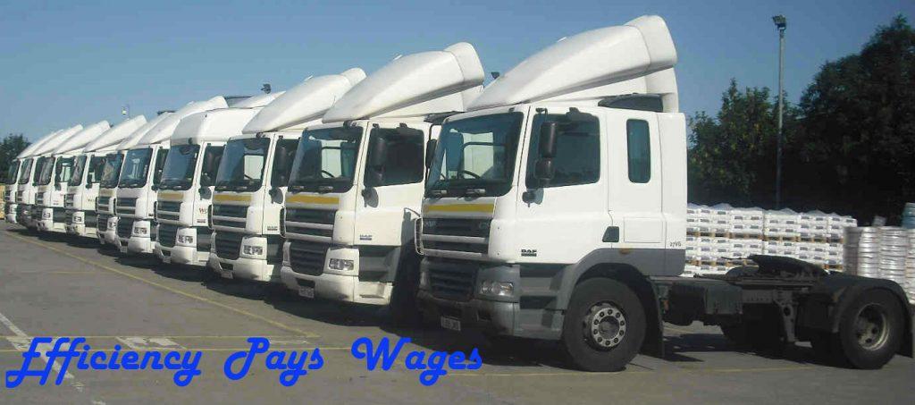 DAF Trucks lined up