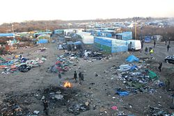 The Calais jungle photo courtesy Wikipedia