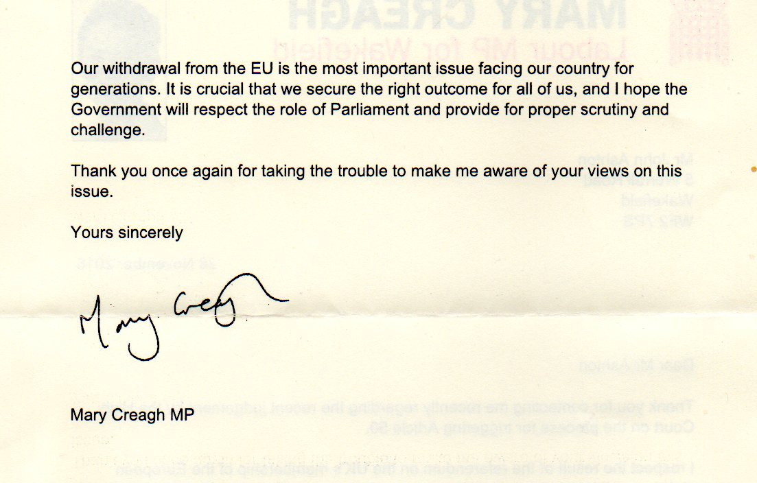 2nd Page of MPs letter