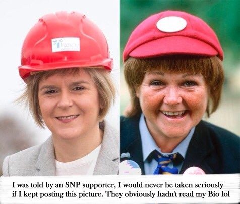 Wee Jimmy Krankie and Nicola Sturgeon