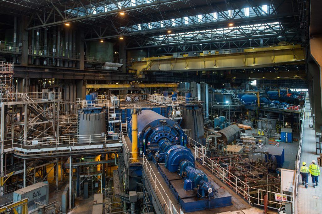 Drax power station turbine hall