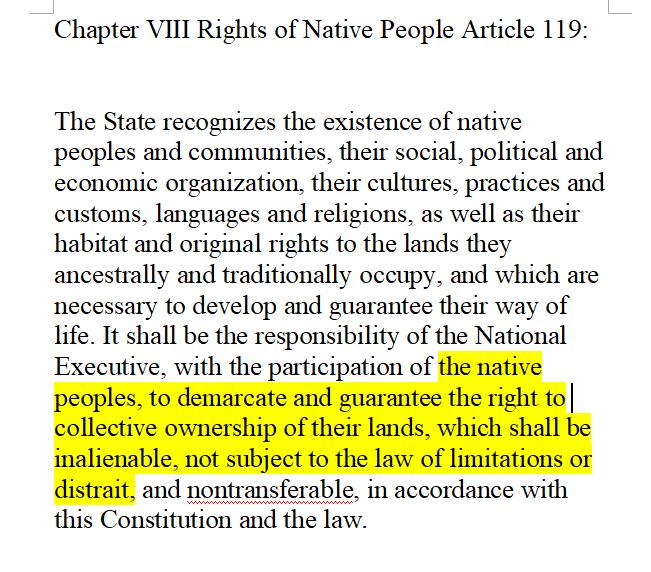 Venezuelan article 119 Constitution