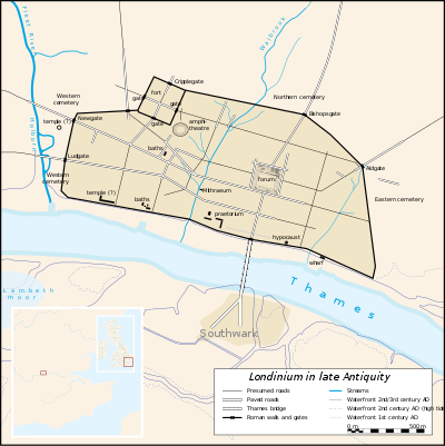 London 400 AD Map